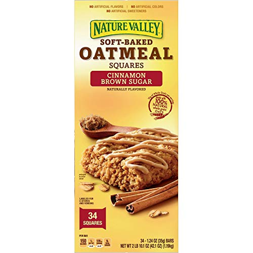 - Nature Valley Soft-Baked Oatmeal Squares, Cinnamon Brown Sugar 34ct 1.24oz Each
