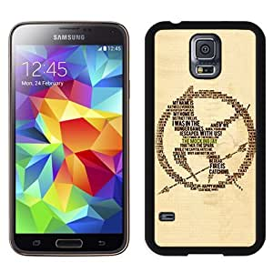 Grace Galaxy S5 Case,Personalized I9600 Case Design with The Hunger Games Cell Phone for Samsung Galaxy S5 SV I9600 in Black