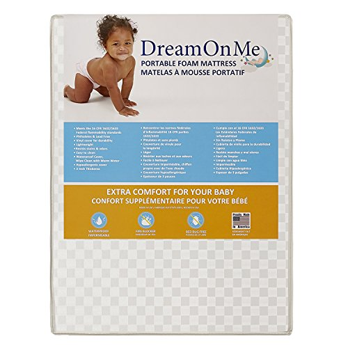 Dream On Me Graco Travel Lite Portable Mini Play Yard Firm Mattress, White by Dream On Me (Image #3)