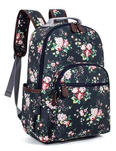 School Girl Rose - Leaper Floral Waterproof School Backpack Travel Bag Bookbags Satchel Daypack