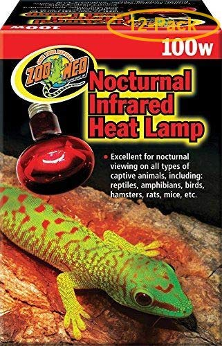 Zoo Med Nocturnal Infrared Heat Lamp 100 Watts - Pack of 12