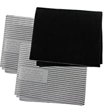 Spares2go Cooker Hood Carbon Grease Filter Kit For Zoppas Kitchen Extractor Fan Vent