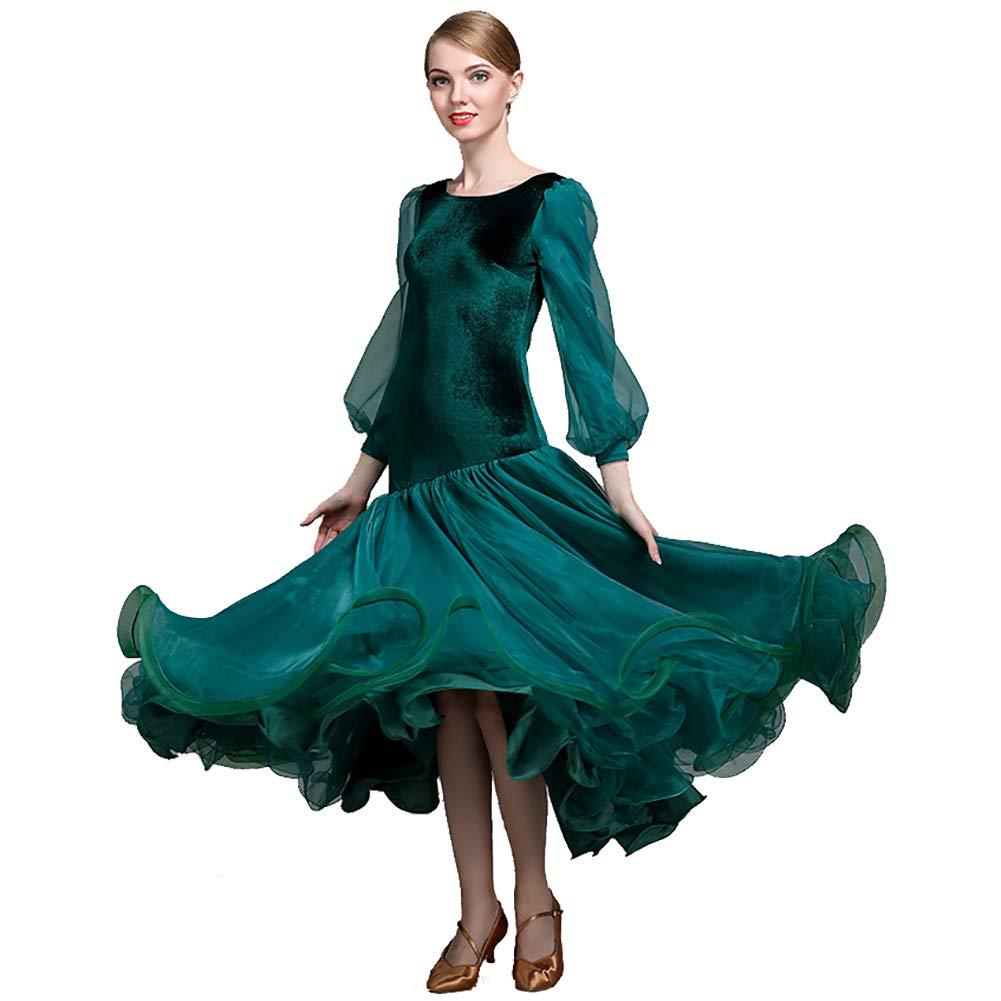 vert XL DHTW&R Femmes Rétro Manchon De Lanterne Danse Jupe Les Robes Flexible étape Les Costumes élégant Fête Concurrence Robe