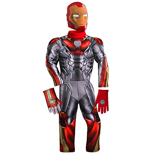 Spider Man 3 Muscle Costumes (Marvel Iron Man Light-Up Costume for Kids - Spider-Man: Homecoming Size 3)