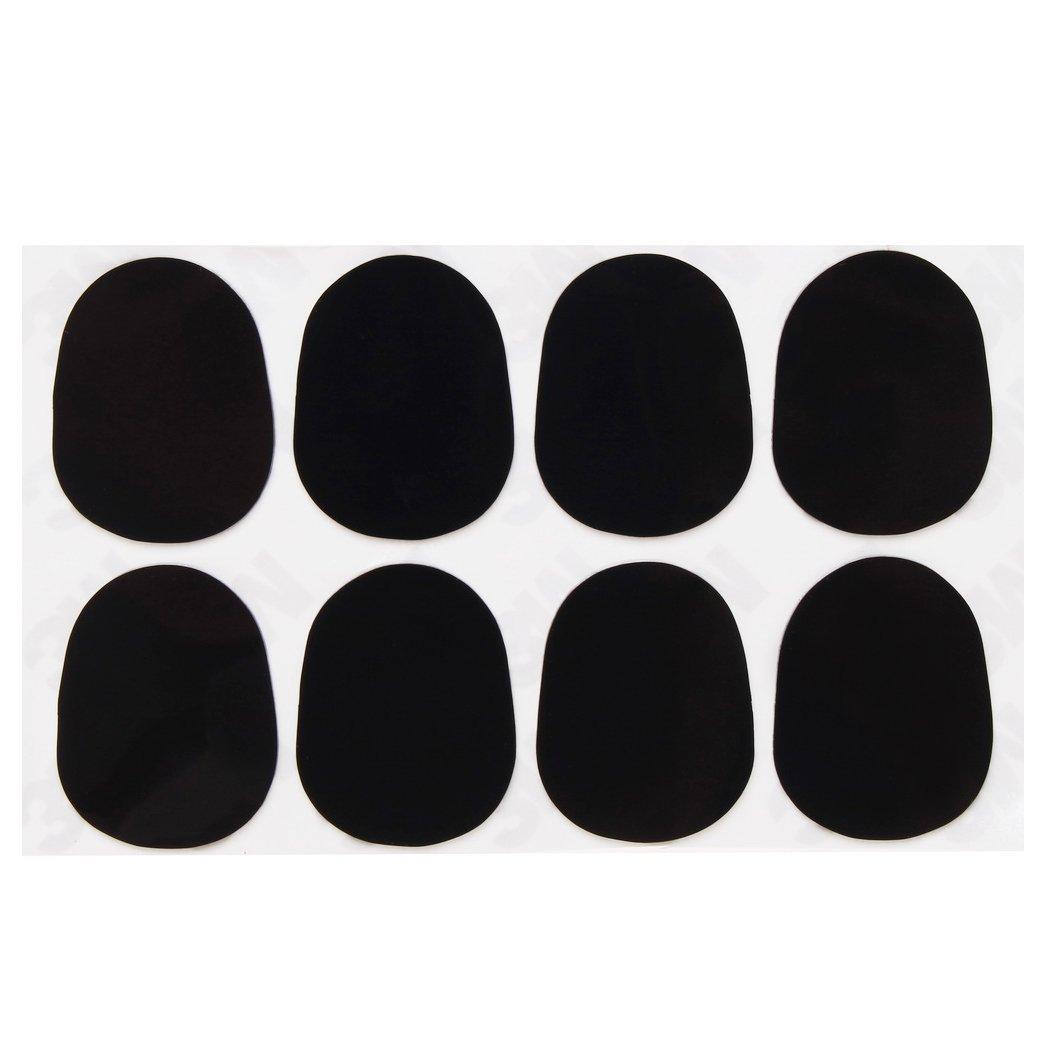 8 Piece Mouthpiece Patches, borte Alto/Tenor Saxophone Sax Clarinet Mouthpiece Patches Pads Cushions, Black