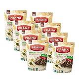 PRANA Super Barks Matcha Magic Organic Chocolate Bark with Sesame Seeds, Crispy Rice, and Matcha Powder - 62% Cocoa Dark Chocolate Bark Non-GMO Vegan Chocolate Snack - 4 Oz Bag x 8 -  PRANA Biovegan Inc
