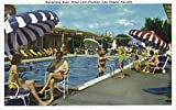 Las Vegas, Nevada - View of the Swimming Pool at the Hotel Last Frontier (12x18 Art Print, Wall Decor Travel Poster)