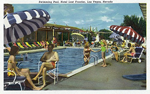 - Las Vegas, Nevada - View of the Swimming Pool at the Hotel Last Frontier (9x12 Art Print, Wall Decor Travel Poster)