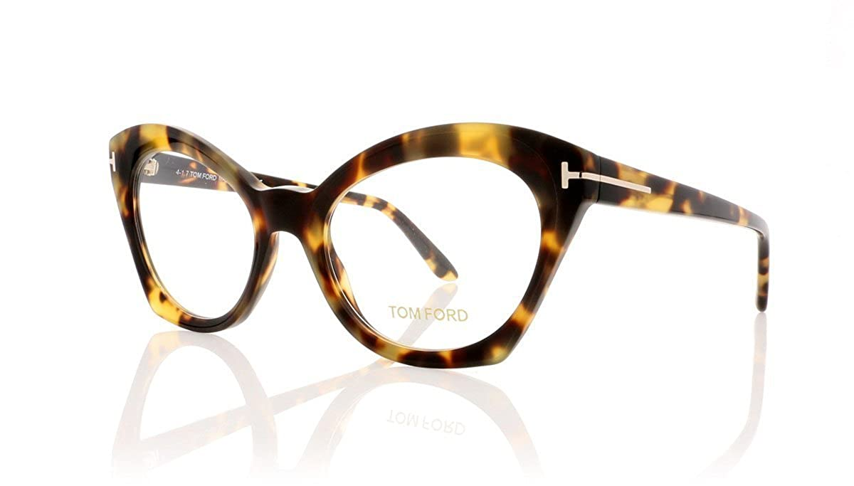 ffd85a40f8 Amazon.com  Tom Ford FT5456 Eyeglasses 52-19-140 Havana w Demo Clear Lens  056 TF5456 FT 5456 TF 5456  Clothing