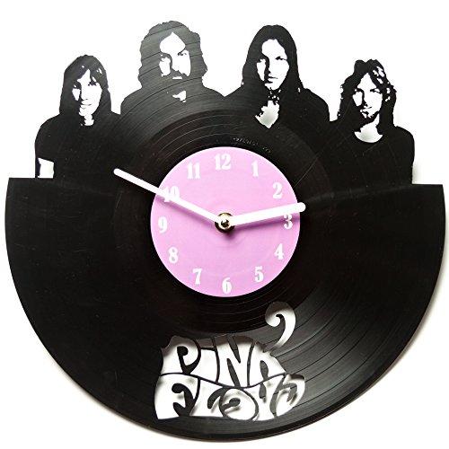 Pink Floyd - At Home Clocks - Vinyl Record Decoration - Pink Floyd Vinyl Clock - Clock for Kitchen - Pink Floyd Clocks - DIY Vinyl Record Clock