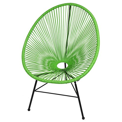 Design Tree Home FHF-ACL-GRN Acapulco Lounge Chair, Green