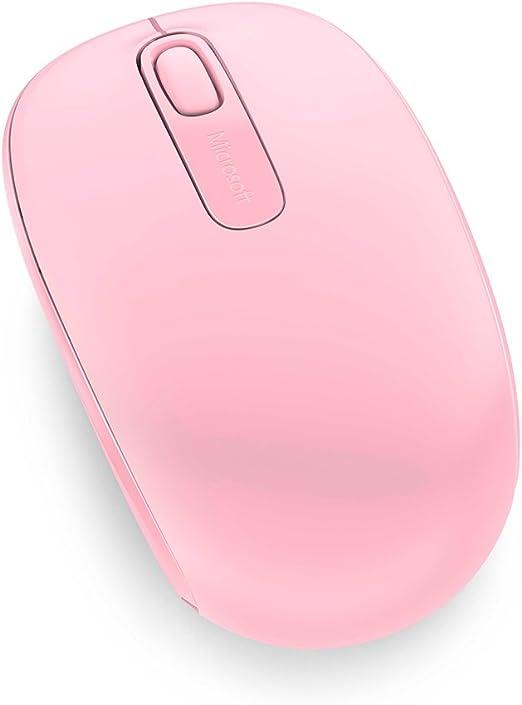 Microsoft Wireless Mobile Mouse 1850 Maus Rosa Kabellos Für Rechts