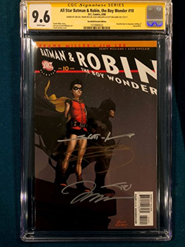 FRANK MILLER & JIM LEE 4X ENTIRE TEAM SIGNED All Star Batman & Robin #10 CGC 9.6
