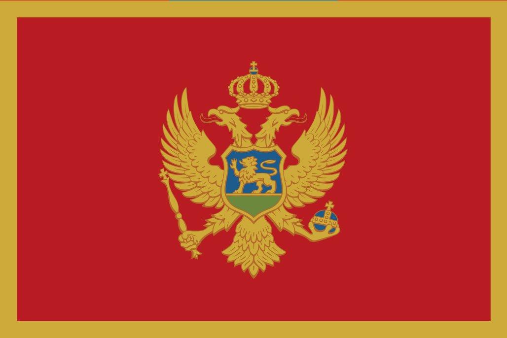 太田旗店 モンテネグロ 国旗 地球にやさしい外国旗 (100×150cm) B07B932RGP 100×150cm  100×150cm