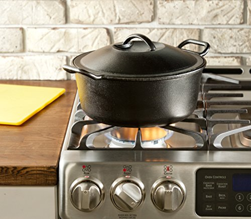 Lodge Pro-Logic 4 Quart Cast Iron Dutch Oven. Pre-Seasoned Pot with Self-Basting Lid and Easy Grip Handles by Lodge (Image #2)