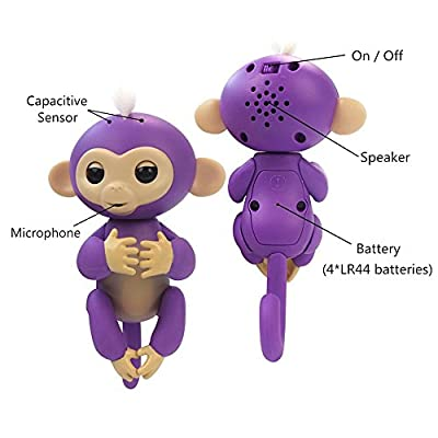 Fingerlings Baby Monkey - Bella - Pink (Includes Bonus Stand): Toys & Games