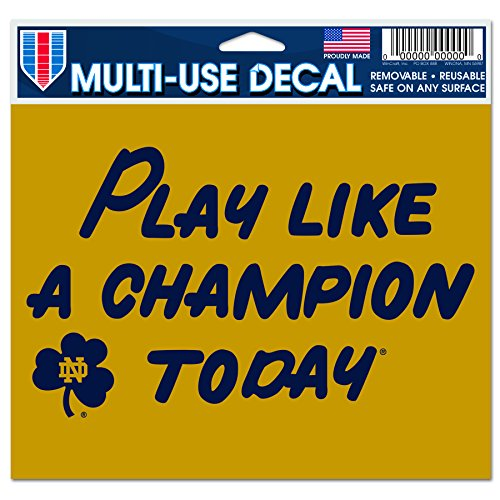 Notre Dame - Play Like A Champion Today Ultra decals 5