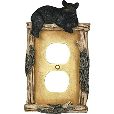 Rivers Edge Products Bear Receptacle Electrical Cover Plate