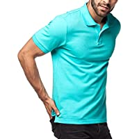 Lapasa Men's Cotton M19 Short Sleeve Polo Shirts (Mint)