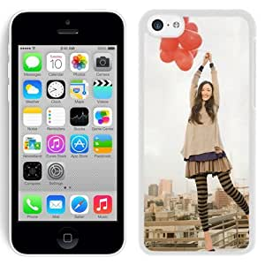 New Beautiful Custom Designed Cover Case For iPhone 5C With The Girl With The Balloon (2) Phone Case