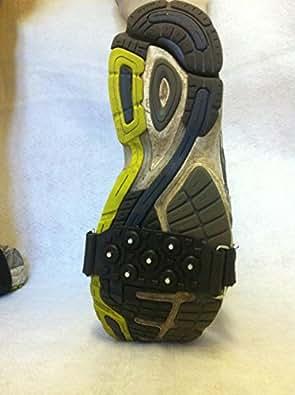 Agarre Antideslizante para Nieve y Hielo con Tachones de Acero para Zapatos / Botas - Talla Única Que Se Adapta A Todos