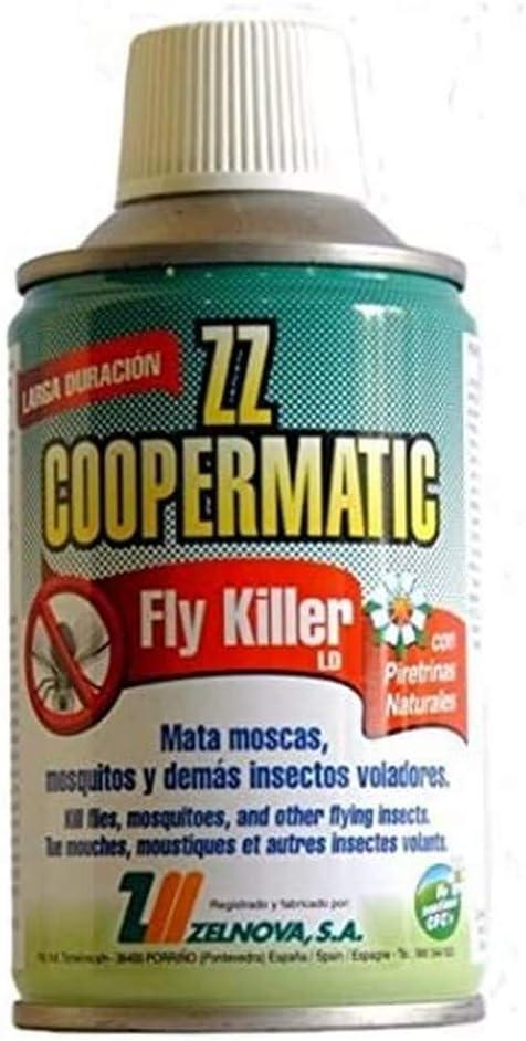 Zelnova Zeltia 8411125040109 Insecticida en Aerosol con Piretrinas Naturales, Negro, 250 ml