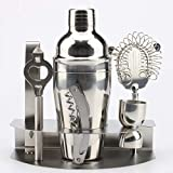 Cocktail Shaker Set,Stainless Steel Cocktail Set, 7-Piece Stainless Steel Cocktail Set - 750ML