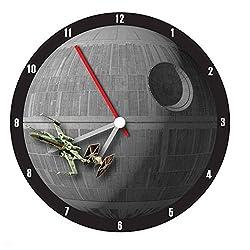 Vandor Star Wars Death Star 13.5 in Clock, Star Wars