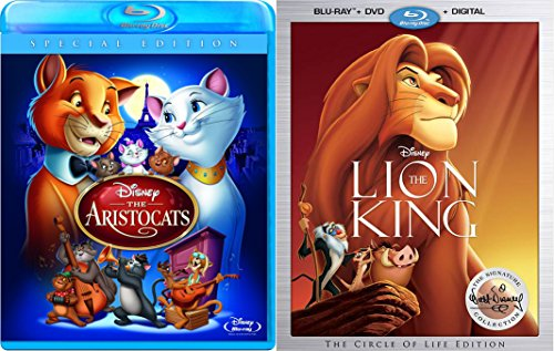 Disney Circle of Life Lion King Movie & Special Edition Aristocats Animated Movie Collection