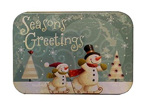 [해외]크리스마스 선물 카드 소지자 깡통 상자 Snowan Skating Wonderful Christmas 3 Pack/Christmas Gift Card Holders Tin Box Snowan Skating Wonder