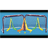 EZGoal Double Mini Folding Goal, Red/White