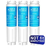 AQUACREST 644845 Refrigerator Water Filter, Compatible with Bosch Ultra Clarity 644845, 9000194412, 9000077104, Miele KWF1000, Haier 0060820860, 0060218743 (Pack of 3)