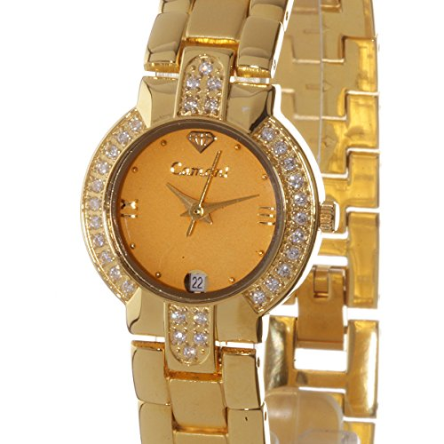 Yves Camani Diadem 426LG Ladies Watch Quartz Analogue Gold Plated Strap and Bezel