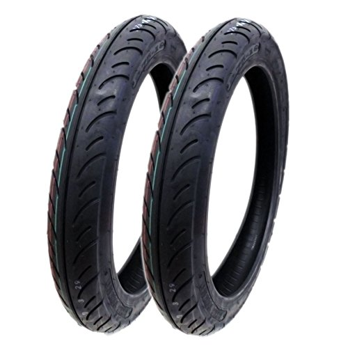 SET OF TWO: Tire 2.75 - 16 (P83) Front/Rear Motorcycle Performance Street Tread by MMG