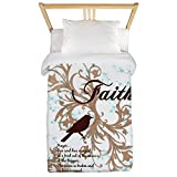 Twin Duvet Cover Faith Prayer Dove Christian Cross