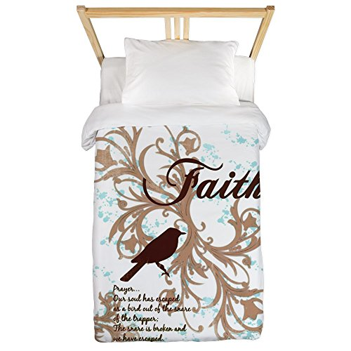 Twin Duvet Cover Faith Prayer Dove Christian Cross by Royal Lion