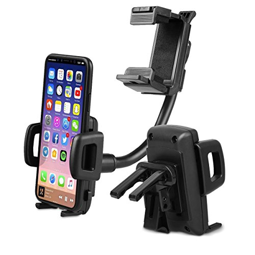 Universal Car Rear View Mirror Mount Stand Holder For Smartphone - 2