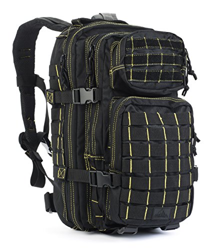 Red Rock Outdoor Gear Rebel Assault Backpack, Black/Yellow (Rock Pack Performance)