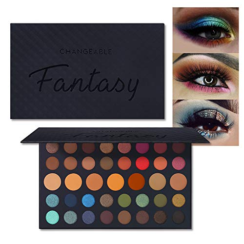 CHANGEABLE Fantasy Palette 39 Colors Matte Shimmer Eyeshadow Palette Eye Shadow Blendable Velvety Texture Highly Pigmented Brown Color Eyeshadow Powder Eye Makeup Pallet Cosmetic (FANTASY PALETTE #02)