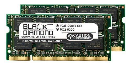 (2GB 2X1GB RAM Memory for Advent Notebook Series K100 Black Diamond Memory Module DDR2 SO-DIMM 200pin PC2-5300 667MHz Upgrade)