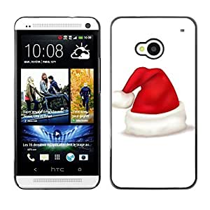 YOYO Slim PC / Aluminium Case Cover Armor Shell Portection //Christmas Holiday Red Hat 1087 //HTC One M7