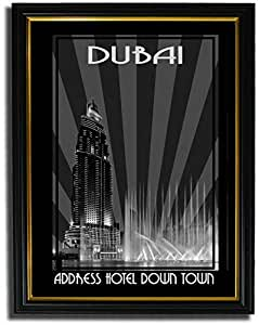 Address Hotel Down Town- Black And White F08-nm (a5) - Framed