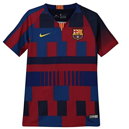 9ce97e8a69a Amazon.com   Nike 2018-2019 Barcelona Anniversary Football Soccer T-Shirt  Jersey (Kids)   Clothing