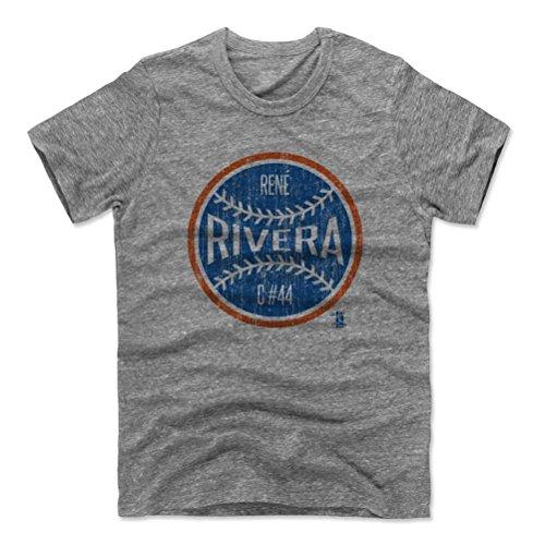 500 Storey's Rene Rivera Ball B New York M Baseball Men's Premium T-Shirt S Heather Gray Officially Licensed by the Major League Baseball Players Comradeship (MLBPA)