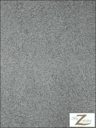 Grey Polar Fleece (Polar Fleece Fabric By the Yard, 60-Inch Wide, Heather Grey/Silver)