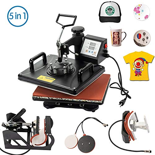 Display4top 5 in 1 Transfer Sublimation Multifunction Machine,12x15