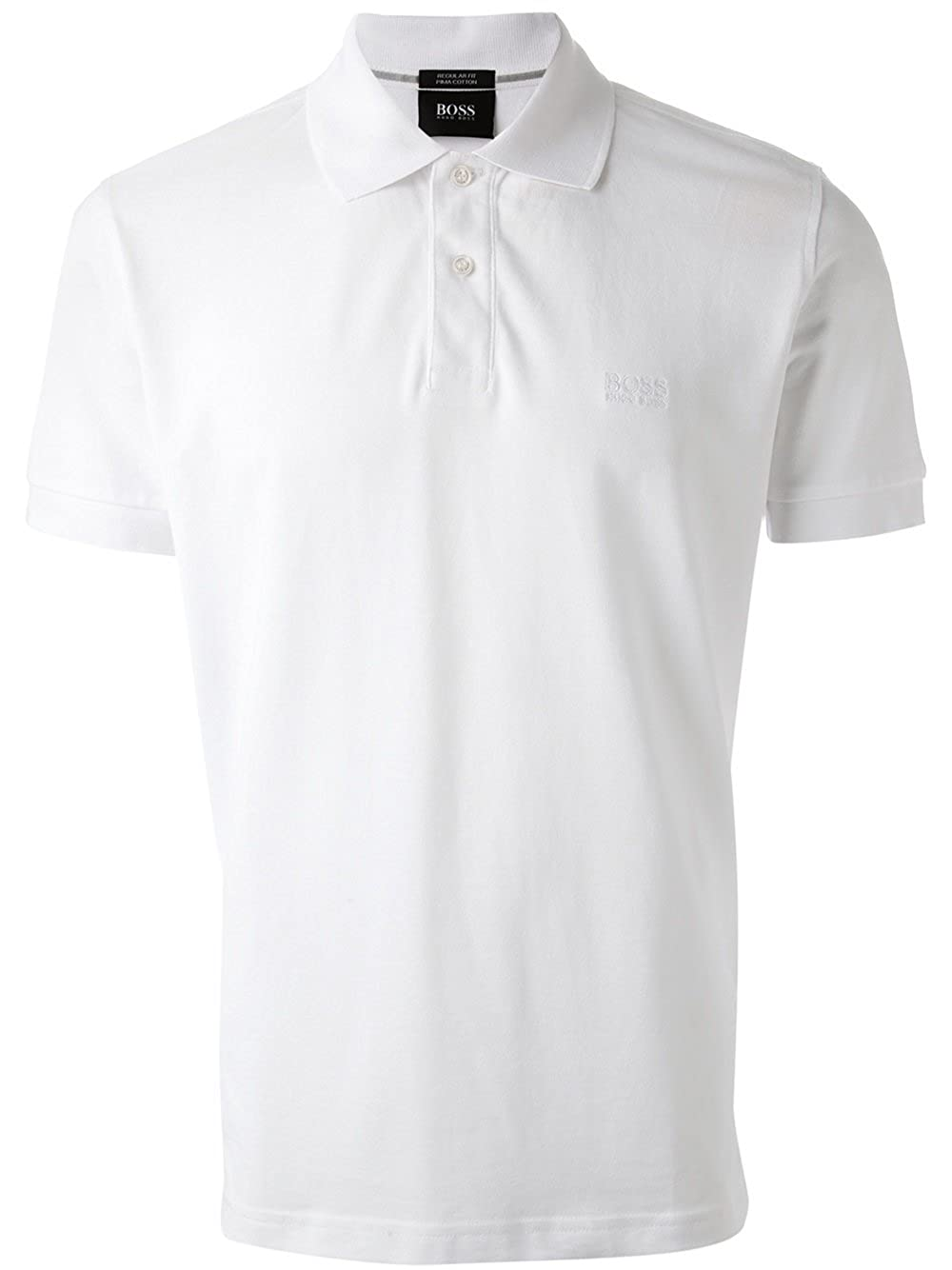 Polo Hugo Boss 9532568 - Short Sleeve-Knit, White Polo Homme Pima ...