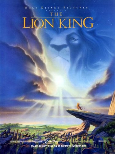 The Lion King 1994 Style E Movie Poster