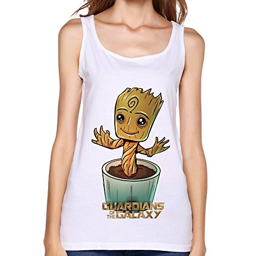 Kazzar Women's Guardians Of The Galaxy Baby Groot Sleeveless Tank Top S