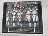 Purple People Eaters Minnesota Vikings Collector Plaque #1 w/8x10 Photo COLOR PHOTO